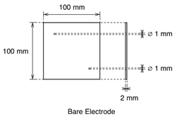 Demonstration Cell Bare Electrode