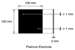 Demonstration Cell Platinum Electrode