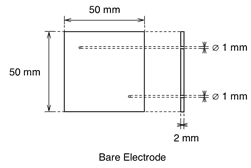 Education Cell Bare Electrode