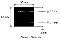Education Cell Platinum Electrode