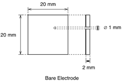 Test Cell Bare Electrode