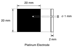 Test Cell Platinum Electrode